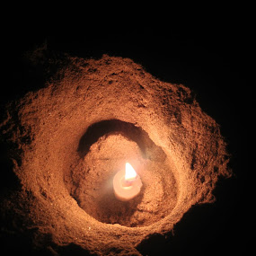 Illumination by Harshit Bansal - Artistic Objects Other Objects ( candle, shine, night, beach, light )