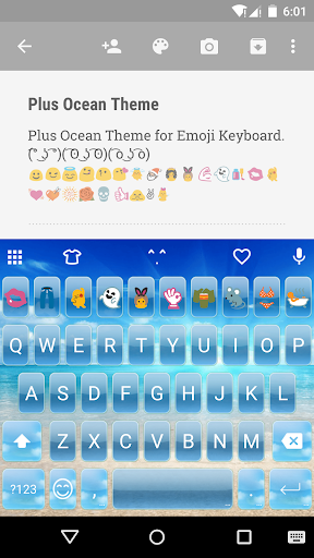 Plus Ocean EmojiKeyboard Theme