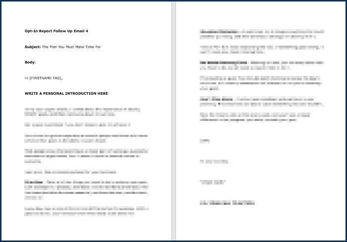 Rapid Results Marketing Formula - OptIn Email 4