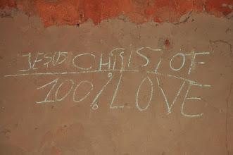 Photo: Jesus Christ loves us! 100%