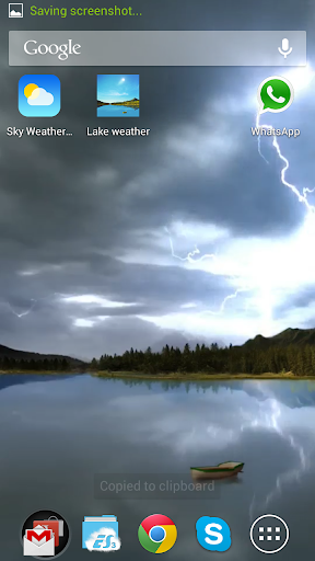 Lake weather live wallpaper screenshot 1 ...