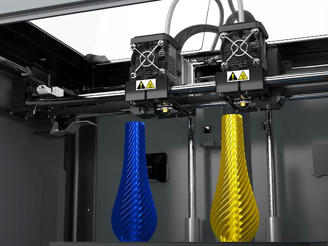 FlashForge Creator MAX 2 Independent Dual Extrusion 3D Printer - Matte Black