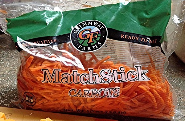 Matchstick carrots are a bit thicker than shredded, but use what you like. There...