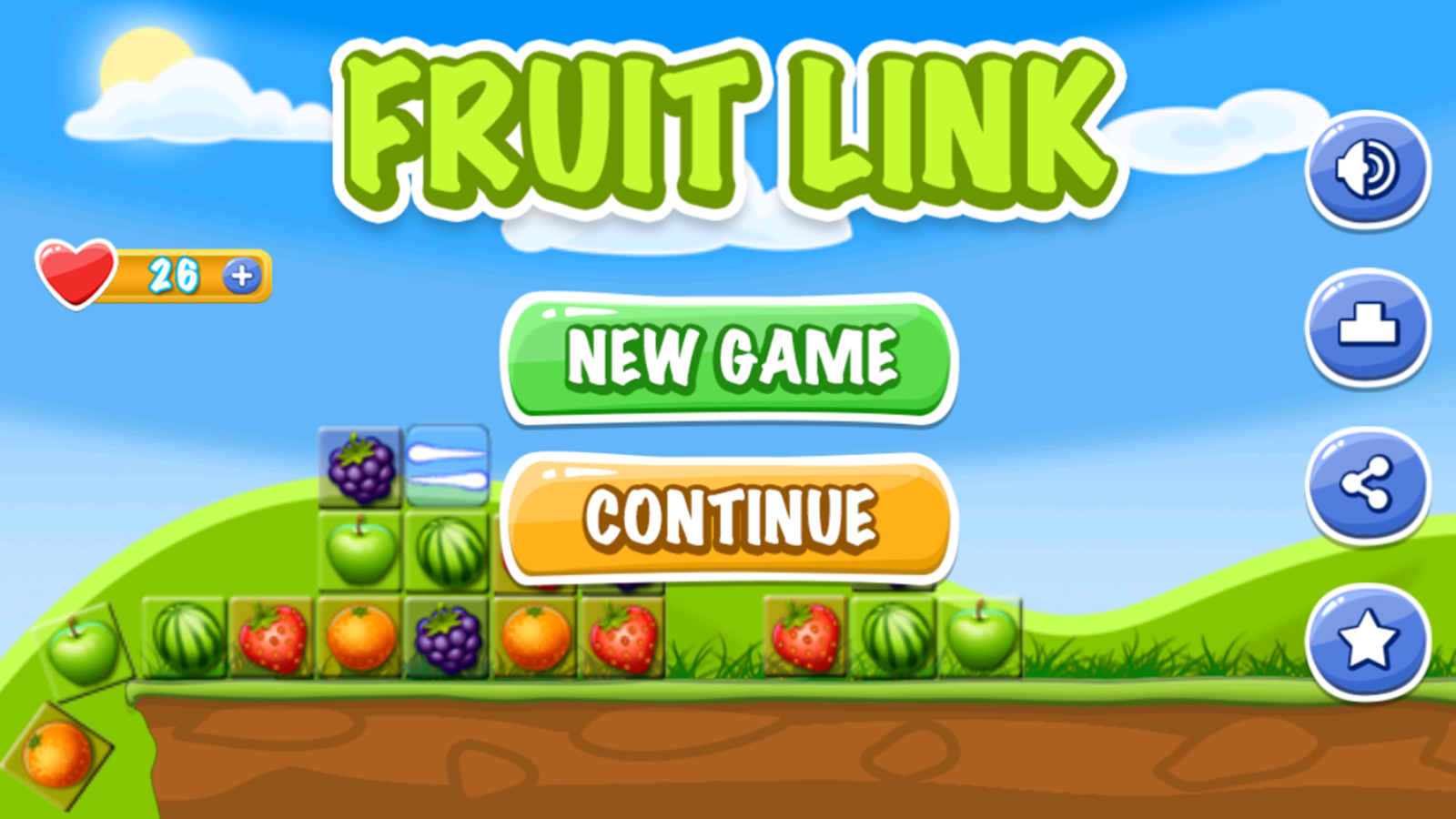 Fruit link deluxe - Fruit Link Crush Mania Screenshot