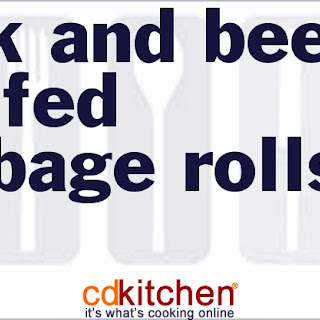 Pork And Beef Stuffed Cabbage Rolls.