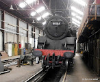 Photo: 80104 is at Tyseley for a bottom end overhaul (axle boxes, etc).  It's seen here at a recent Open Day.  Photo (c) Colin Eyles