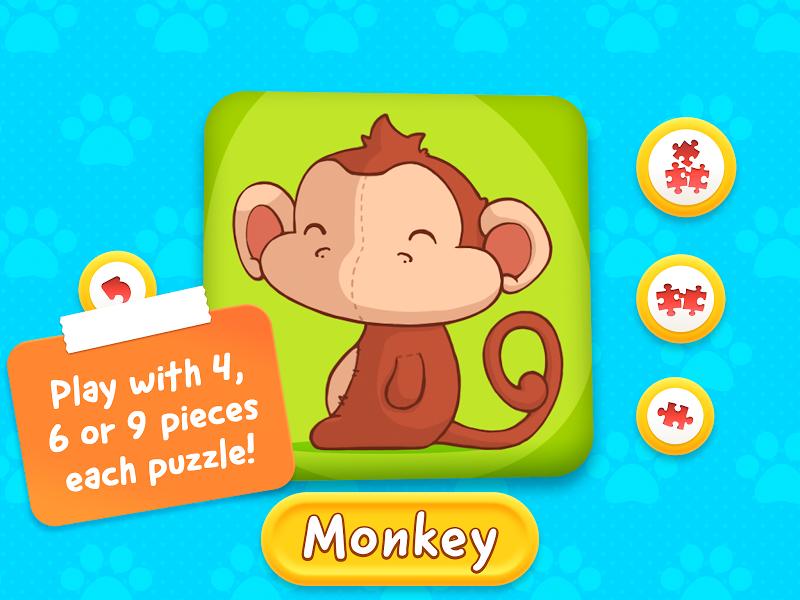 Скриншот животных головоломка малышей