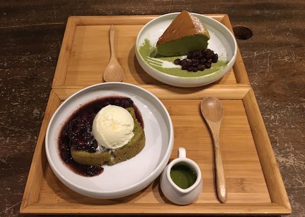 藍屋 和風御膳|超療癒的紅豆抹茶系甜品$80:抹茶磅蛋糕&靜岡抹茶輕乳酪|和風套餐9道菜$580