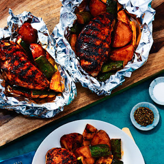 Spice Rubbed Barbecue Chicken Packets