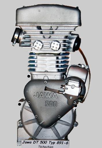 Moteur Jawa DT 500 type 891.