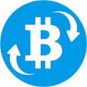 Bitcoin and Ethereum trading icon