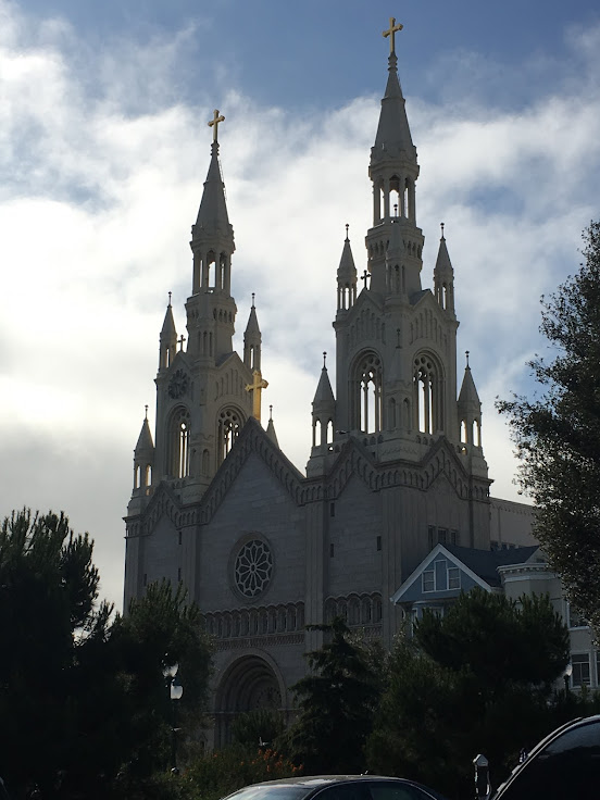 The double towers of the Saints Peter and Paul Church.