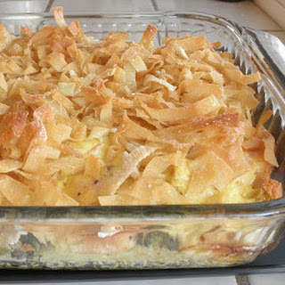 Hot Chicken and Potato Salad Casserole