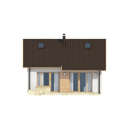 D142 wersja drewniana - Elewacja tylna