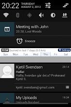 Photo: Calendar notification in notification area on Jelly Bean on LG P500