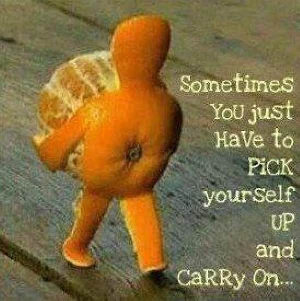 Some Times You Just Have To Pick Yourself Up And Move On!! Orange You Glad I Shared This Recipe With You!!