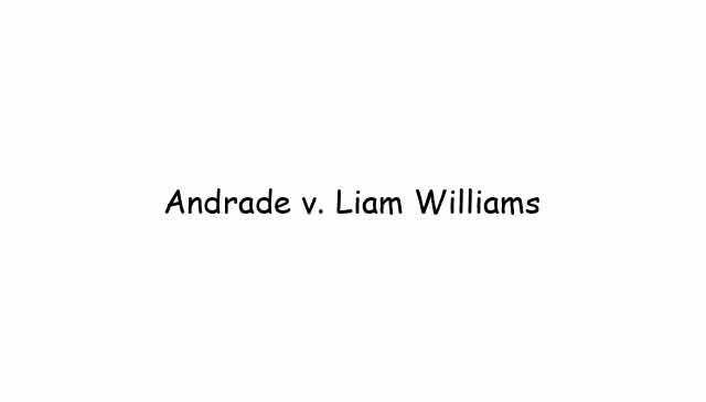 Andrade vs Liam Williams
