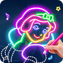 Learn To Draw Glow Princess icon
