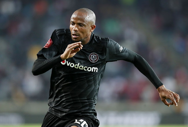 Xola Mlambo of Orlando Pirates during the Absa Premiership 2018/19 match between Orlando Pirates and Highlands Park at the Orlando Stadium, Soweto on 04 August 2018.