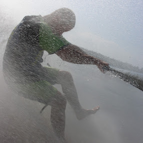 Barefoot Skiing by Sidney Vowell - Sports & Fitness Watersports