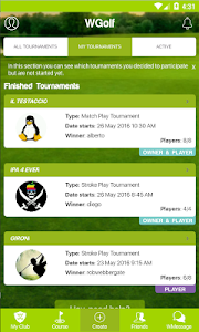 WGolf Tournaments screenshot 0