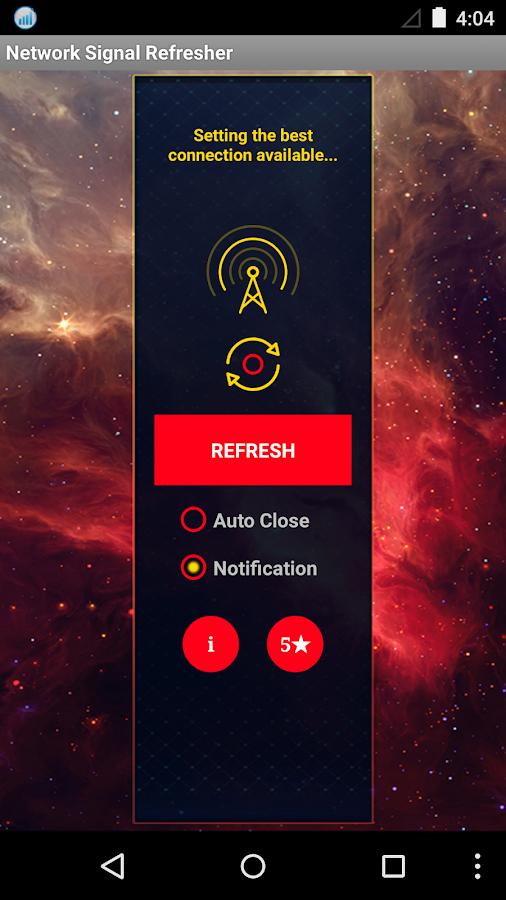 Network Signal Refresher Lite- screenshot