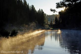 Photo: Sonnenaufgang über dem Yellowstone River