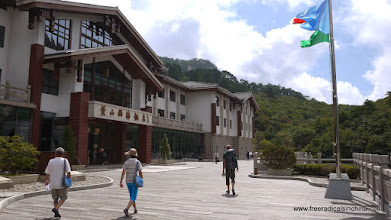 Photo: A huge hotel at the top of the mountain. Did porters bring all the supplies up the mountain to build this here?