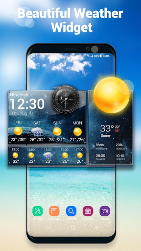 Daily & Hourly Weather Clock Widget  screenshots 1