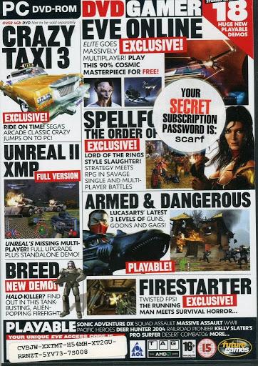 Video game:DVD Gamer February 2004 - PC Gamer — Google Arts