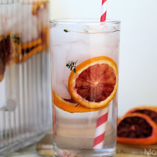 Blood Orange and Thyme Spa Water Recipe