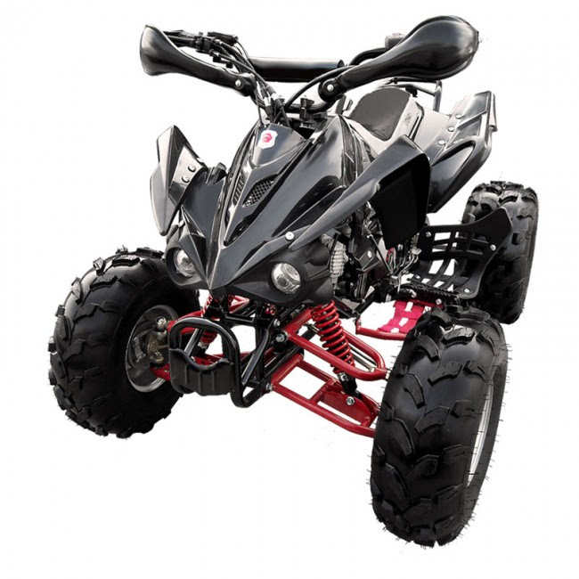 "125cc Sports Quad Bike ATV Black 8"" wheels"