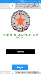 University Loan Wallet - náhled