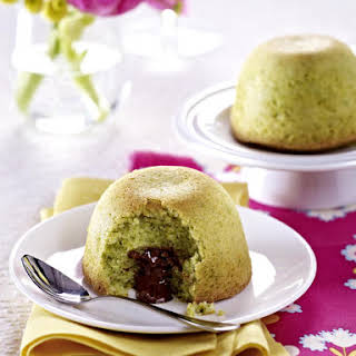 Pistachio Cakes with Chocolate Filling.
