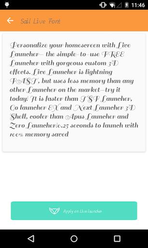 Elegant font 2- Live Launcher