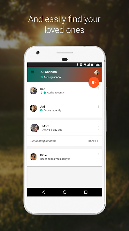 Trusted Contacts- screenshot
