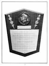 Photo: RALPH VALLADARES September 8, 1973 GO GO GO This plaque is presented to the individual who has made the most outstanding contribution to roller games during the past year in honor of the memory of SHIRLEY HARDMAN whose great courage, accomplishments and contributions to roller games will forever serve as an inspiration and example to all.