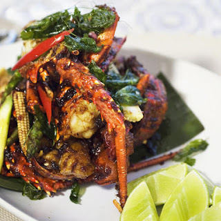 Fried Lobster with Sticky Sauce.