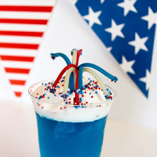 4th of July Dessert Fireworks Jello Cups.