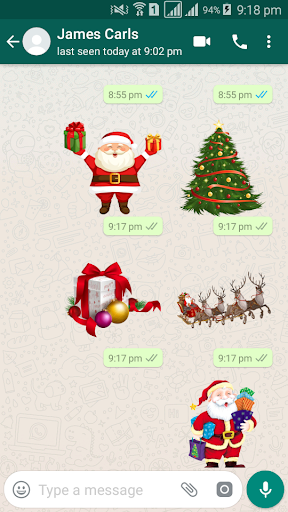 Christmas Sticker Pack - WAStickerApps 1.0 screenshots 2