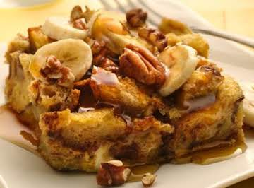 Slow Cooker Bananas Foster Bread Pudding