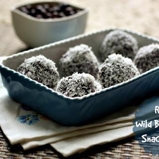 Raw Wild Blueberry Snack Balls.