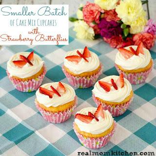 Smaller Batch of Cake Mix Cupcakes.