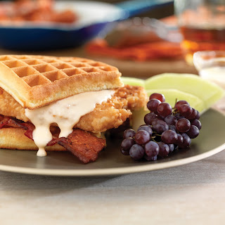 Pork Chop and Waffle Sandwiches with Maple Gravy.