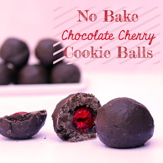 No Bake Chocolate Cherry Cookie Balls
