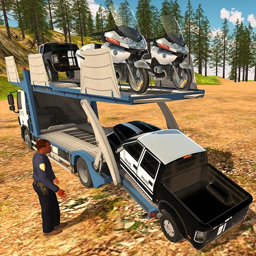 Offroad Police Pickup Truck Transport Simulator