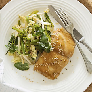 Miso Glazed Fish with Crisp Asian Salad.