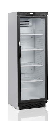 Kylskåp 438 L med glasdörr<BR> CEV425-I 1 LED DOOR, Tefcold