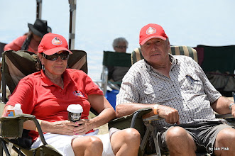 Photo: couple withc/w Terang Country Music Festival caps etc