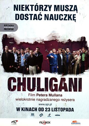 Przód ulotki filmu 'Chuligani'